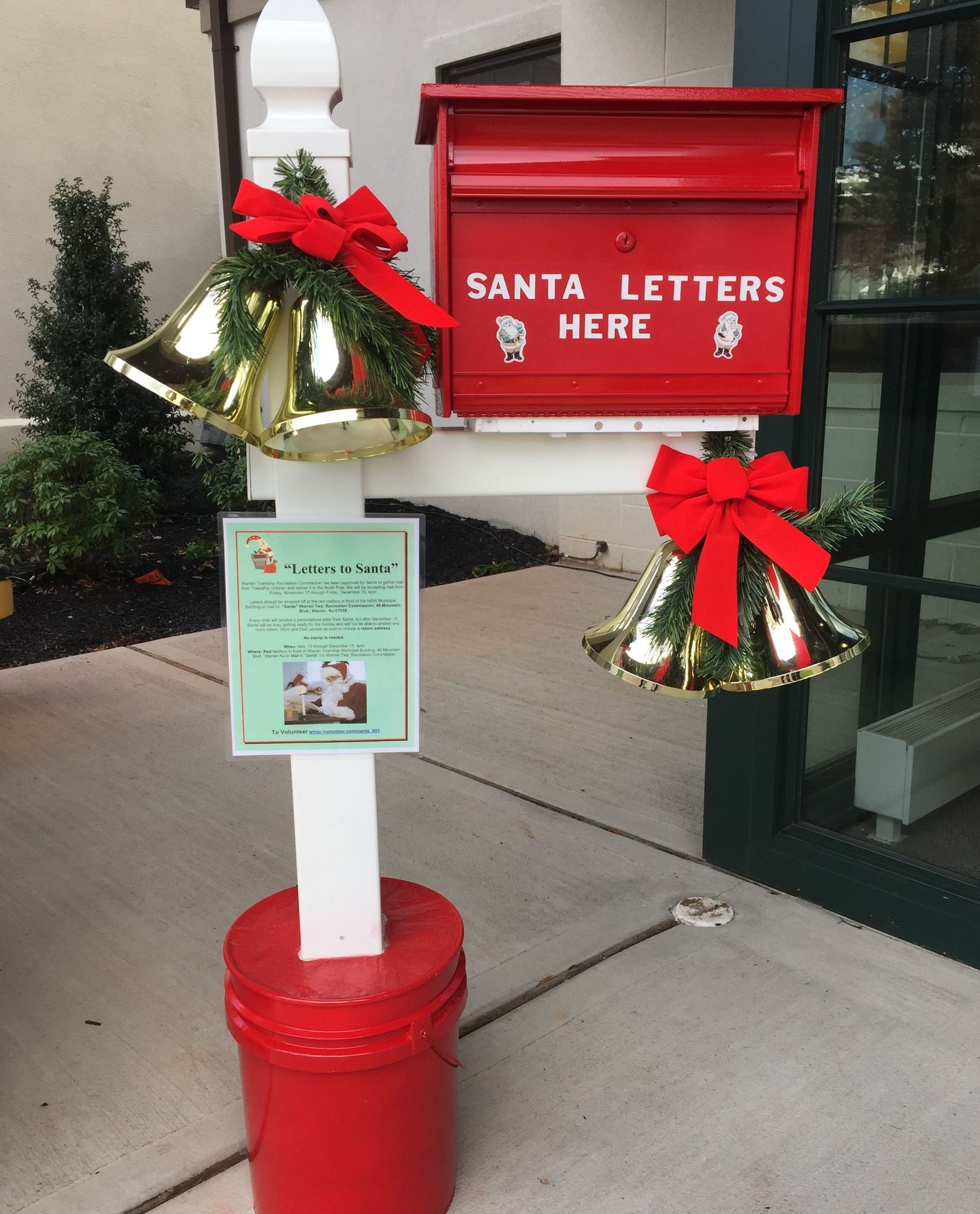 letters to santa mailbox close up