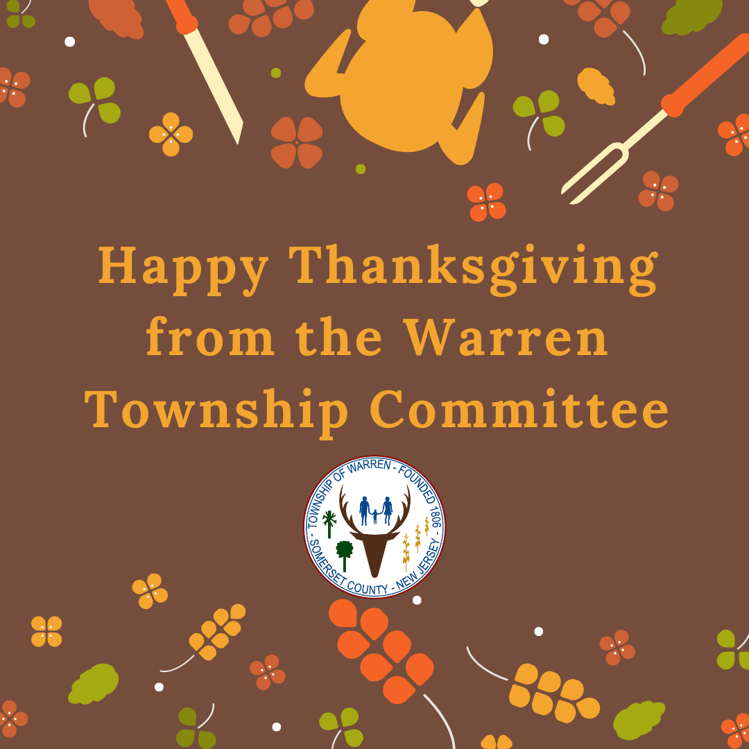 Warren Township Committee wishes Happy Thanksgiving