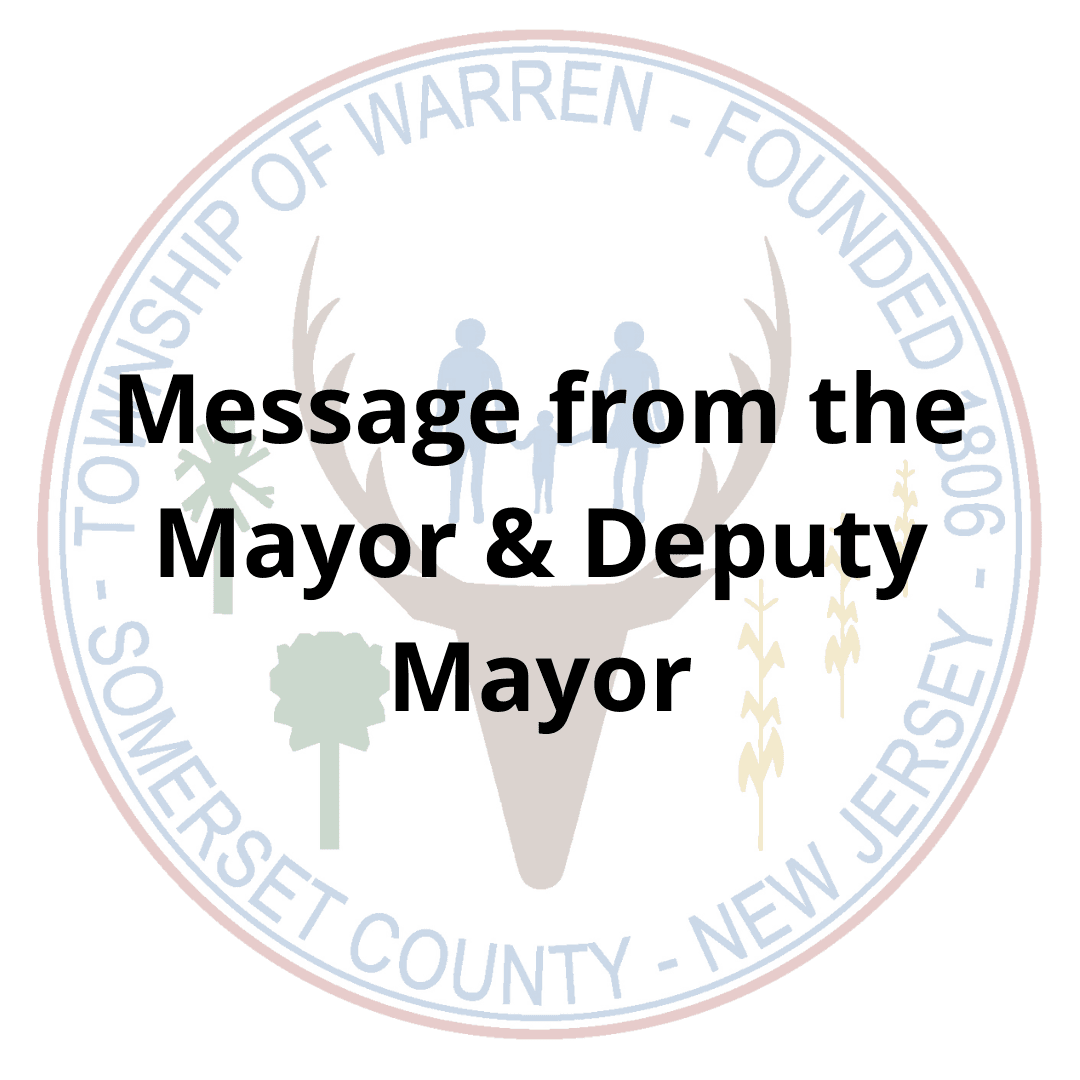 Message from the Mayor and Deputy Mayor